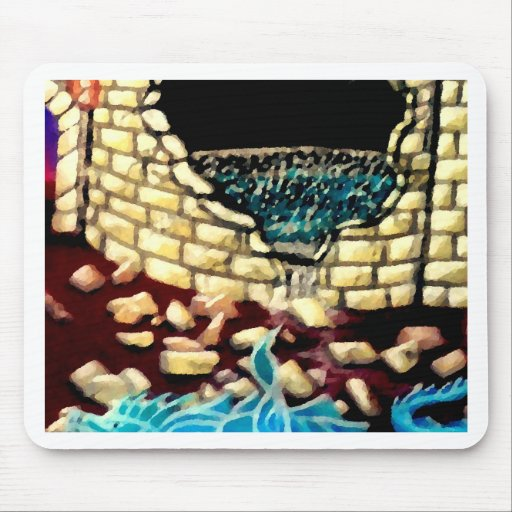 """""""Glass Dragon Hole in the Wall  CricketDiane Art Mousepad"""