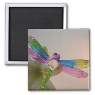 Glass Dragonfly Magnet
