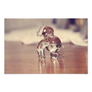 Glass elephant photographic print