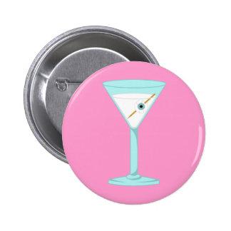 Glass Eye Human Eyeball Martini Pinback Buttons
