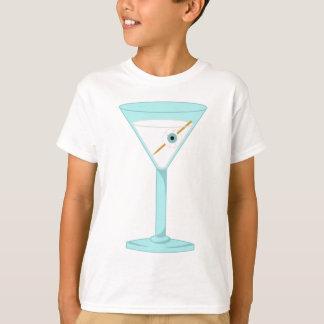 Glass Eye Human Eyeball Martini Tee Shirt