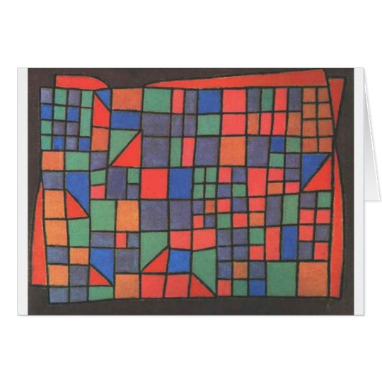 Glass Facade by Paul Klee Card