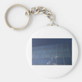 glass facade - corporate building key chain