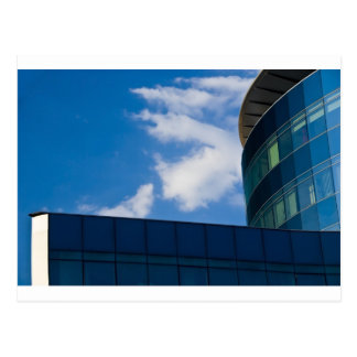 glass facade - corporate building postcards