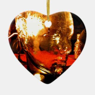 Glass Face Ceramic Heart Decoration