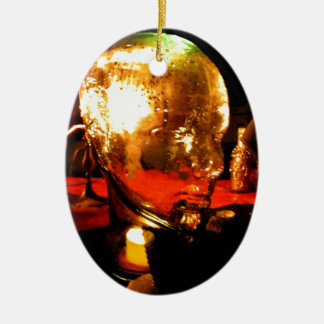 Glass Face Ceramic Oval Decoration