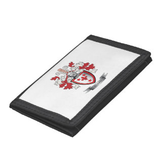 Glass Family Crest Coat of Arms Tri-fold Wallets