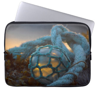 Glass fishing float, Sunset, Alaska Laptop Sleeve