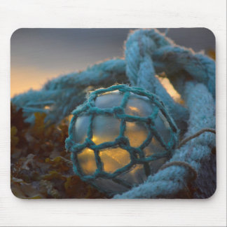 Glass fishing float, Sunset, Alaska Mouse Pad