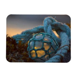 Glass fishing float, Sunset, Alaska Rectangular Photo Magnet