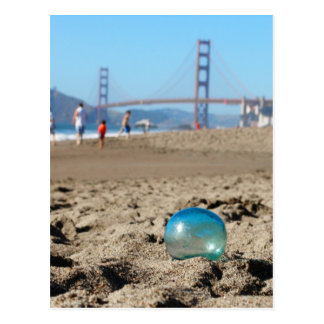 Glass float at Baker's Beach Postcard