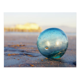 Glass float near Romeo pier Postcard