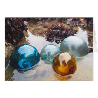 Glass Floats on water Card