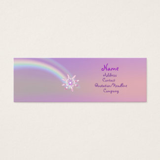 Glass Flower - Skinny Mini Business Card