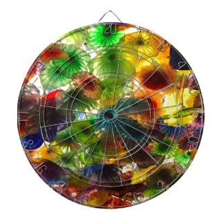 GLASS FLOWERS DARTBOARD