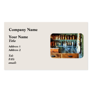 Glass Funnles and Barber Pole Pack Of Standard Business Cards