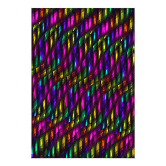 Glass Gem Pink Yellow Mosaic Abstract Artwork Photo Art