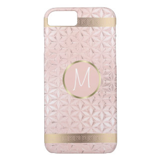 Glass Geometric Borders Monogram Rose Gold ID412 iPhone 8/7 Case