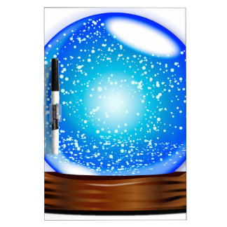 Glass Globe Smow Storm Dry Erase Board
