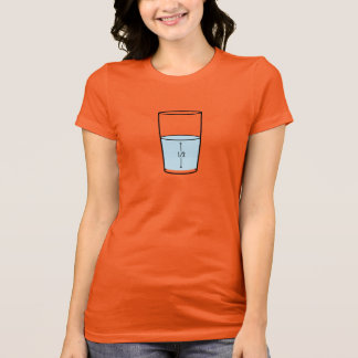 Glass Half Full - optimism T-Shirt