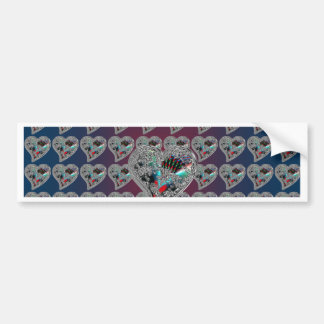 GLASS HEARTS & DRAGON TOE BUMPER STICKER