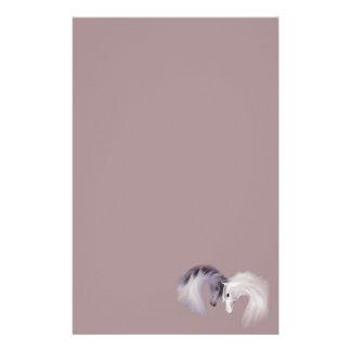 """Glass Horses"" ~ Lavender Stationery"