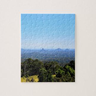 GLASS HOUSE MOUNTAINS QUEENSLAND AUSTRALIA JIGSAW PUZZLE