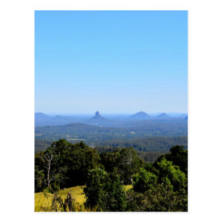 GLASS HOUSE MOUNTAINS QUEENSLAND AUSTRALIA POSTCARD