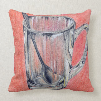 Glass in red cushion