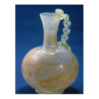 Glass jug, Roman, 3rd century Postcard