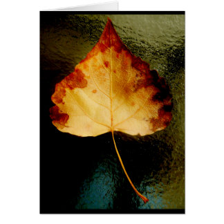 """Glass Leaf"" JTG Art Greeting Card"