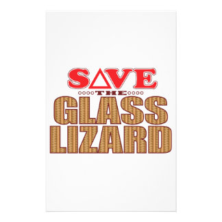 Glass Lizard Save Customized Stationery