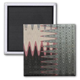 Glass magic square magnet