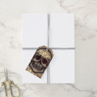 Glass Mosaic Skull,beige Gift Tags