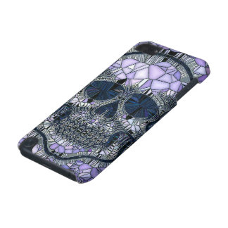 glass mosaic skull, blue iPod touch 5G covers