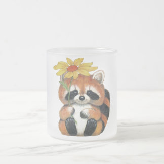 "Glass mug fosco ""Raccoon """