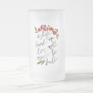 """Glass mug """"Life, lived… """""""