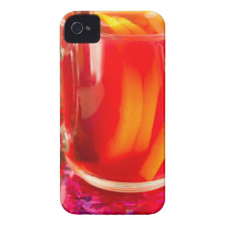 Glass mug with citrus mulled wine Case-Mate iPhone 4 cases