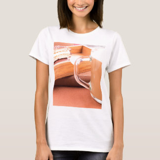 Glass mug with hot chocolate and biscuits T-Shirt