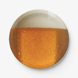 Glass of Beer Paper Plate