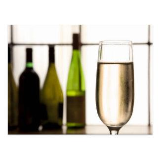 Glass of Champagne Postcard