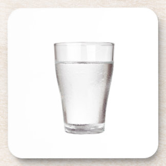 Glass of cold water coaster