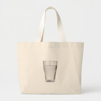 Glass of cold water large tote bag