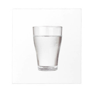 Glass of cold water notepad