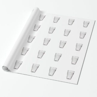 Glass of cold water wrapping paper