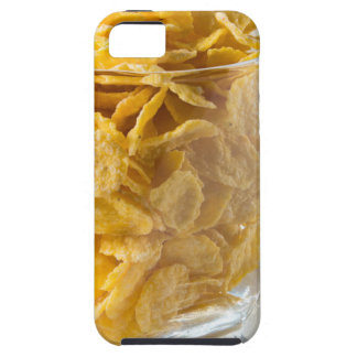 Glass of dry cereal and a glass of milk iPhone 5 cases