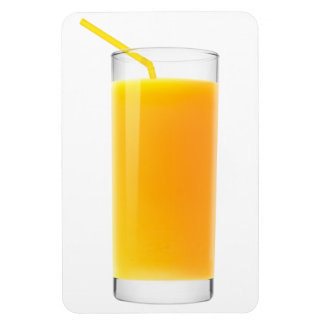 Glass of orange juice rectangular photo magnet