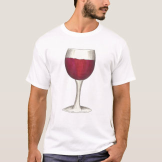 Glass of Red Wine Merlot Cabernet Tasting Drinking T-Shirt