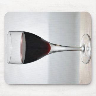 Glass of red wine mouse pad