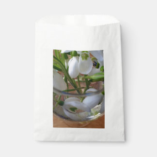 glass of snowdrops favour bag